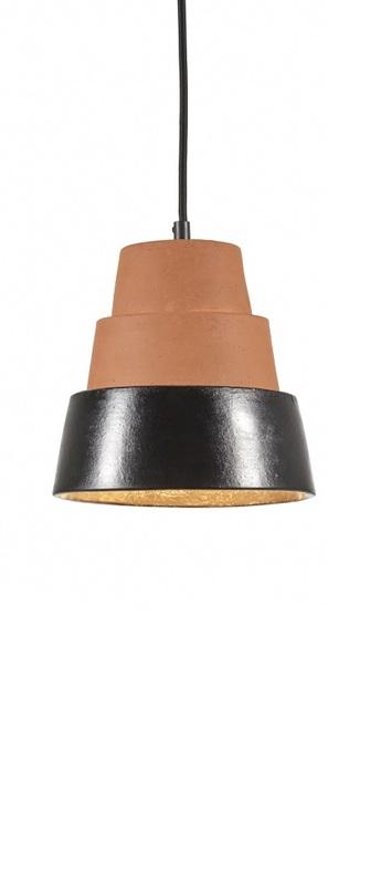 Suspension toscana terracotta noir o20cm h24cm serax normal