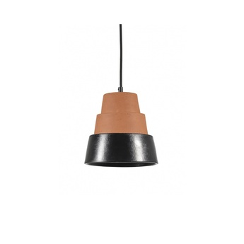 Suspension toscana terracotta noir o20cm h24cm serax normal