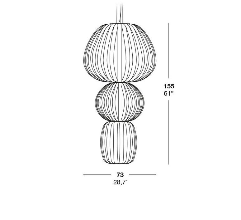 Totem s3 marivi calvo suspension pendant light  lzf dark tot3s 20  design signed 31870 product