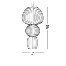 Totem s3 marivi calvo suspension pendant light  lzf dark tot3s 20  design signed 31870 thumb