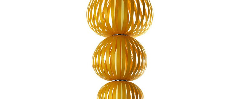 Suspension totem s4 jaune h231cm o86cm lzf normal