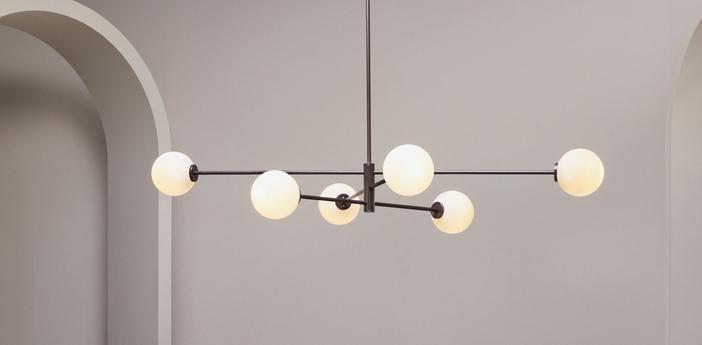 Suspension trevi 6 bronze l154cm h25cm cto lighting normal