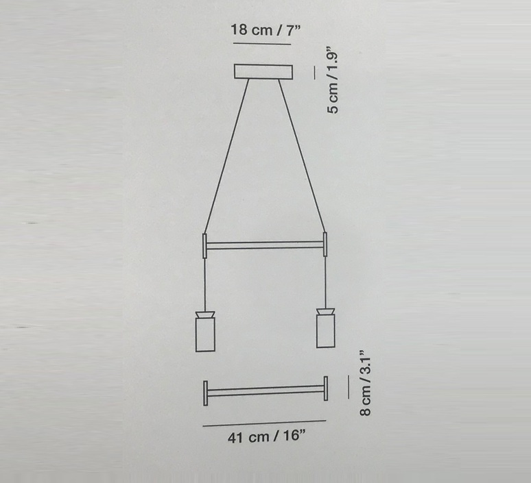 Triana double la produqtora suspension pendant light  carpyen 1411200 acc1003  design signed nedgis 69721 product