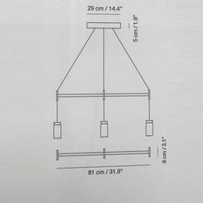 Triana triple la produqtora suspension pendant light  carpyen 1411120 acc1004  design signed nedgis 69723 thumb
