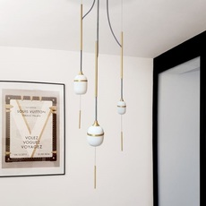 Trio fleur de kaolin studio designheure suspension pendant light  designheure su3fk1g1m1p120  design signed nedgis 65056 thumb
