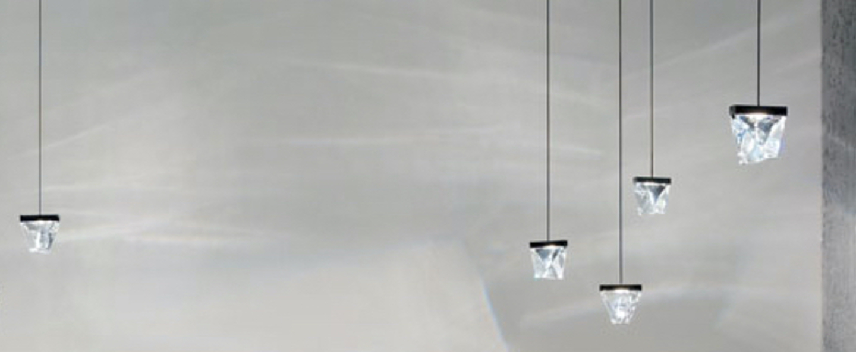 Suspension tripla bronze ip55 led 3000k 350lm l9 8cm h9 3cm fabbian normal