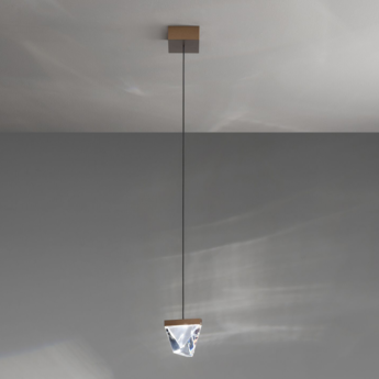 Suspension tripla f41 bronze led l9 8cm h7 5cm fabbian normal