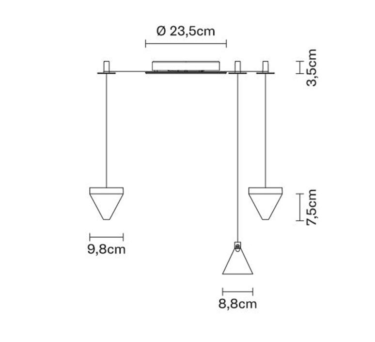 Tripla devis busato giulia ciccarese suspension pendant light  fabbian f41 g02 21  design signed nedgis 125911 product