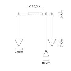 Tripla devis busato giulia ciccarese suspension pendant light  fabbian f41 g02 21  design signed nedgis 125911 thumb