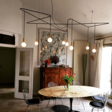 Trombone daniel gallo suspension pendant light  daniel gallo trombone  design signed 59534 thumb