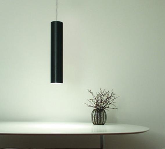 suspension tube 70 noir h70cm 14cm karboxx luminaires nedgis. Black Bedroom Furniture Sets. Home Design Ideas