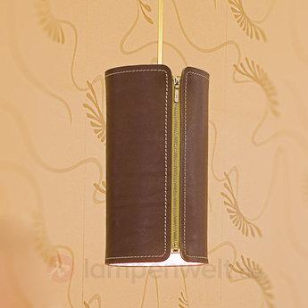 Suspension tubo cuir marron h30cm formagenda normal
