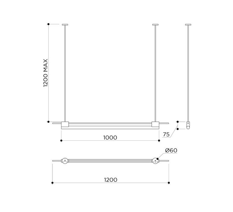 Tubus pendant mauricio obarrio suspension pendant light  contain tub 113 brushed brass  design signed nedgis 108638 product