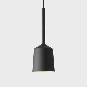 Suspension tulip bloom noir et or o14 8cm h18cm modular lighting normal