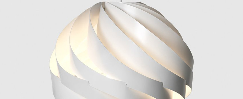 Suspension turbo 62 blanc o62cm h62cm gubi normal