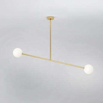 Suspension two spheres 067 laiton l90cm h71cm atelier areti normal