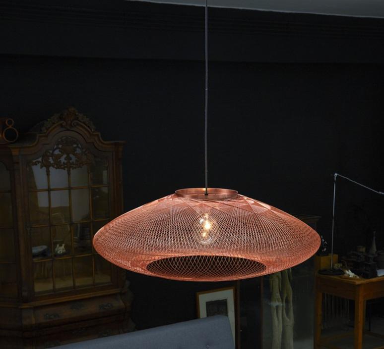suspension ufo large l ger cuivre 80cm h24cm atelier robotiq luminaires nedgis. Black Bedroom Furniture Sets. Home Design Ideas