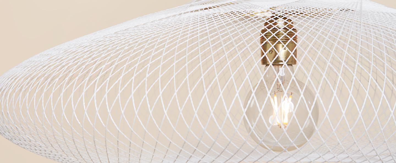Suspension ufo medium blanc o60cm h18cm atelier robotiq normal