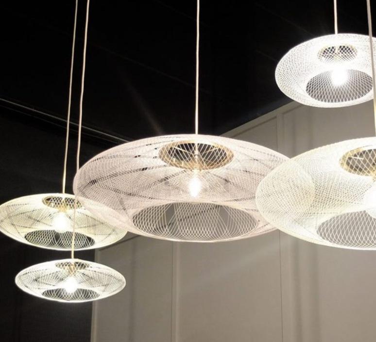 Ufo medium  suspension pendant light  atelier robotiq ufo medium white  design signed 42973 product