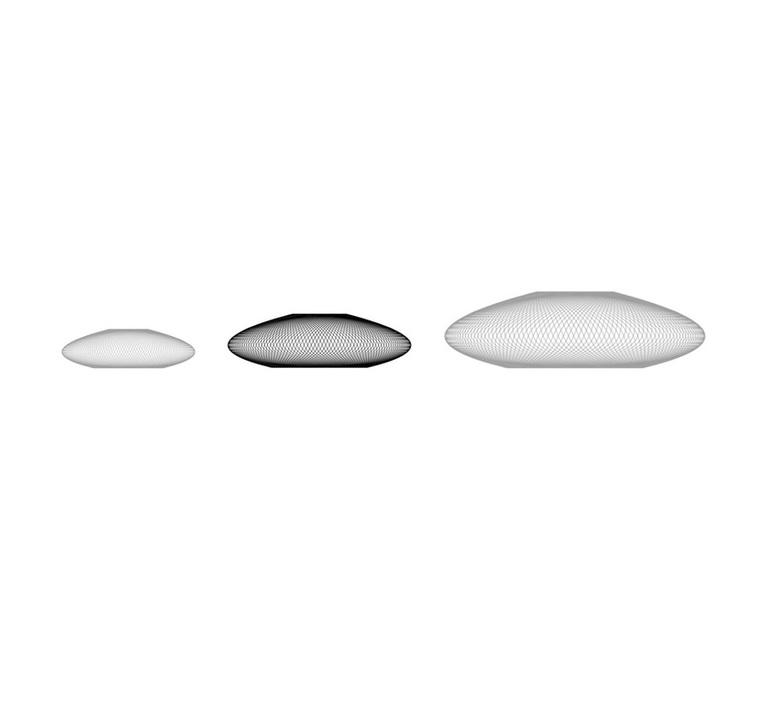 Ufo medium  suspension pendant light  atelier robotiq ufo medium white  design signed 42980 product