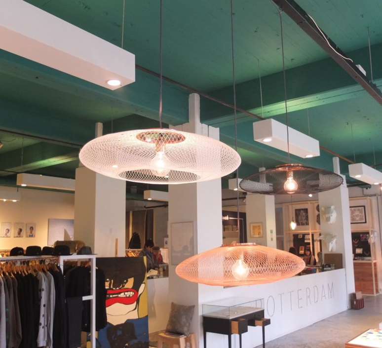 Ufo medium  suspension pendant light  atelier robotiq ufo medium lightcopper  design signed 42958 product