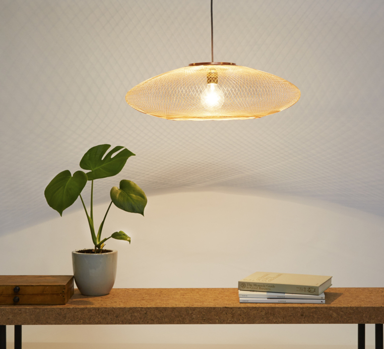 Ufo medium  suspension pendant light  atelier robotiq ufo medium lightcopper  design signed 42960 product