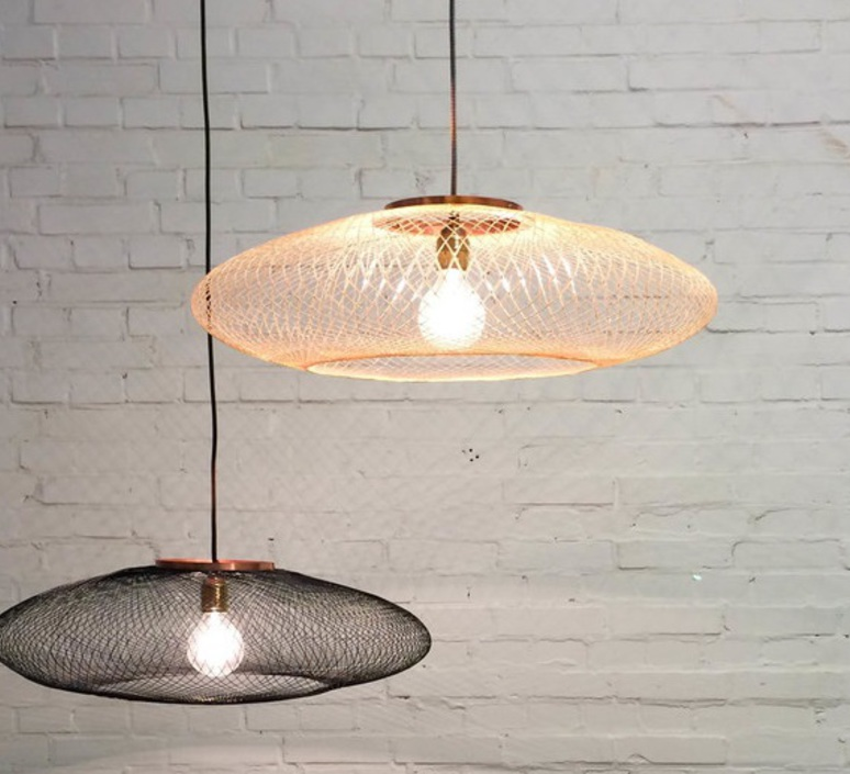 Ufo medium  suspension pendant light  atelier robotiq ufo medium lightcopper  design signed 42961 product