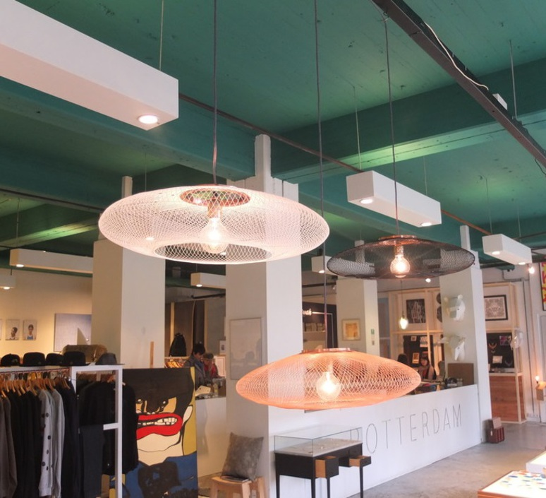 Ufo medium  suspension pendant light  atelier robotiq ufo medium black  design signed 42965 product