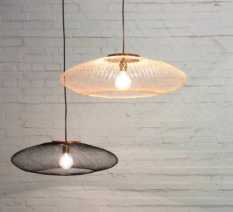 Ufo medium  suspension pendant light  atelier robotiq ufo medium black  design signed 42970 product