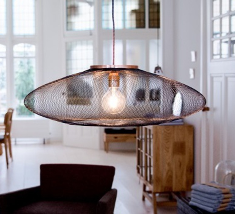 Ufo medium  suspension pendant light  atelier robotiq ufo medium black  design signed 42971 product