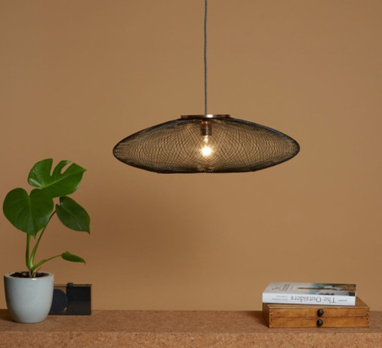 Ufo small  suspension pendant light  atelier robotiq ufo small charcoalblack  design signed 42936 product