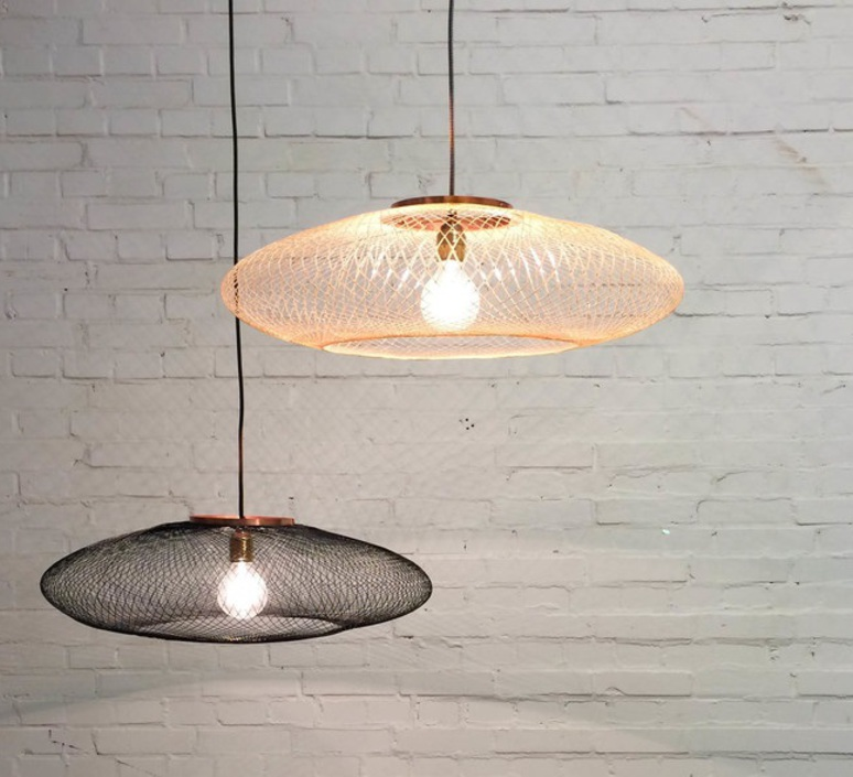 Ufo small  suspension pendant light  atelier robotiq ufo small charcoalblack  design signed 42942 product