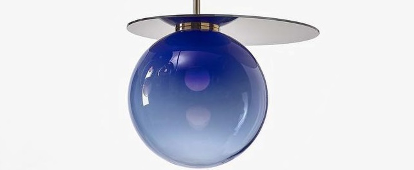Suspension umbra bleu o35cm h47cm bomma normal