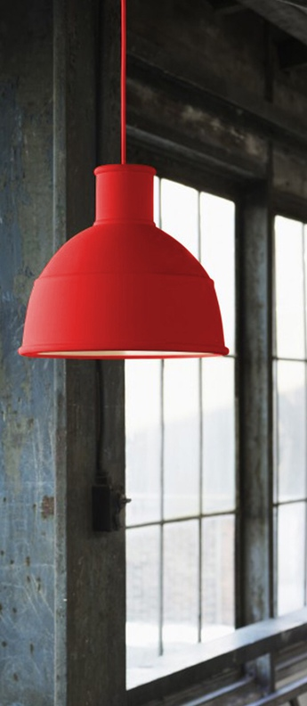 Suspension unfold rouge poussiereux o32 5cm h29 5cm muuto normal