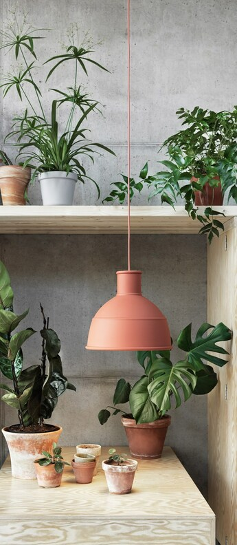 Suspension unfold terracotta o32 5cm h29 5cm muuto normal