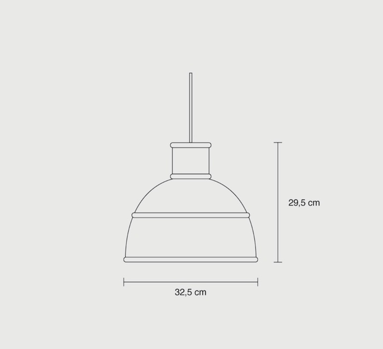 Unfold form us with love suspension pendant light  muuto 09013  design signed 33685 product