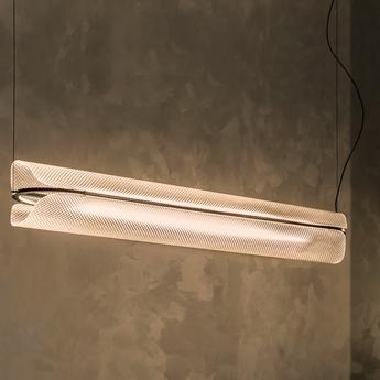 Suspension vale 1 dali transparent anthracite l102cm h15cm andlight normal