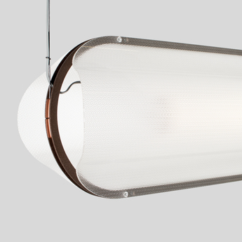 Suspension vale 1 dali transparent rouille led 2700k 1115lm l102cm h15cm andlight normal