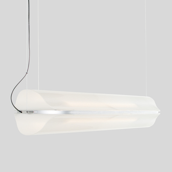 Suspension vale 1 dali transparent silice led 2700k 1115lm l102cm h15cm andlight normal