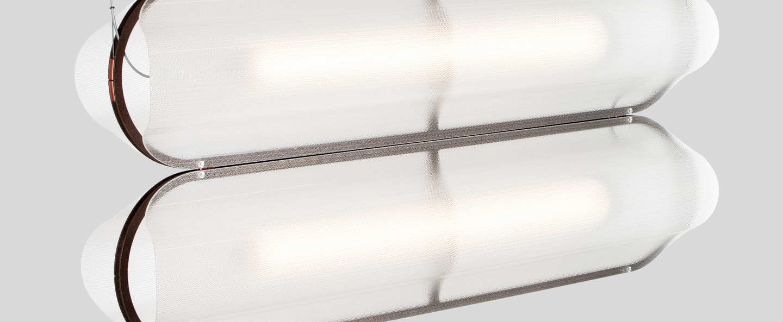 Suspension vale 2 dali transparent rouille led 2700k 2230lm l102cm h15cm andlight normal