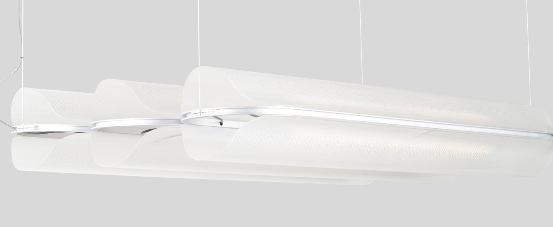 Suspension vale 3 dali transparent silice led 2700k 3345lm l102cm h15cm andlight normal