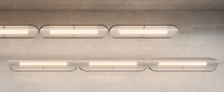Suspension vale 3dali transparent anthracite led 2700k 3345lm l102cm h15cm andlight normal