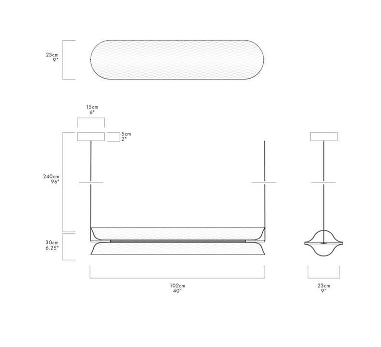 Vale 3dali  caine heintzman suspension pendant light  andlight val 3 p clr ant 27 dal 230  design signed nedgis 90028 product