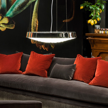 Suspension valentine flat chrome led o60cm h11cm moooi normal
