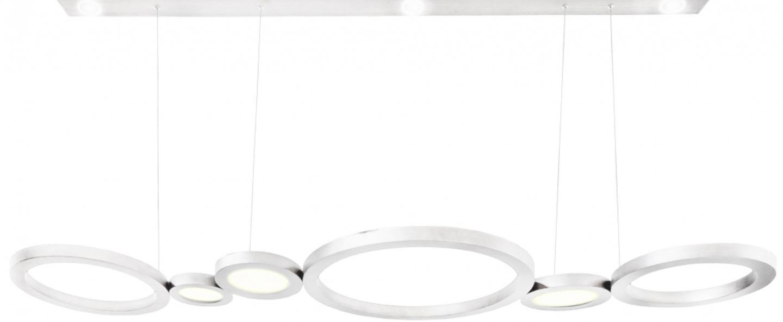 Suspension vegas blanc led 2700k 5400 1400lm l210cm hcm contardi normal