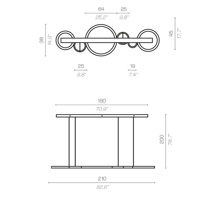 Vegas massimiliano raggi suspension pendant light  contardi acam 001938  design signed nedgis 87271 product
