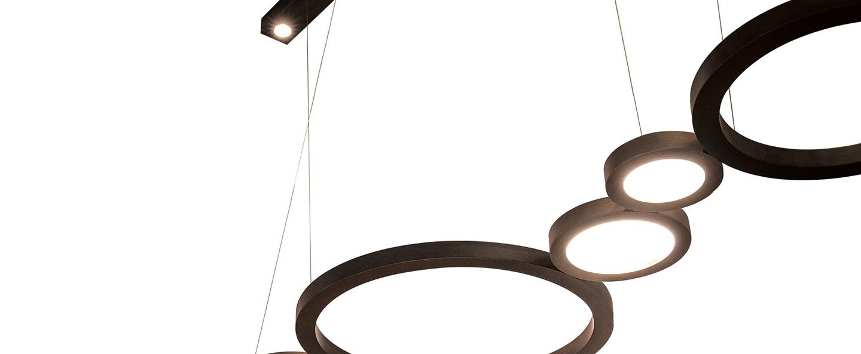 Suspension vegas bronze led 2700k 5401 1400lm l210cm hcm contardi normal