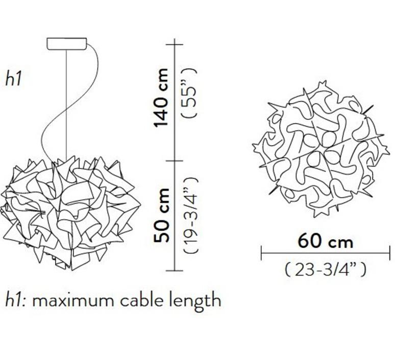 Veli couture l adriano rachele suspension pendant light  slamp vel78sos0003bw000  design signed nedgis 66205 product