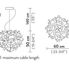 Veli couture l adriano rachele suspension pendant light  slamp vel78sos0003bw000  design signed nedgis 66205 thumb