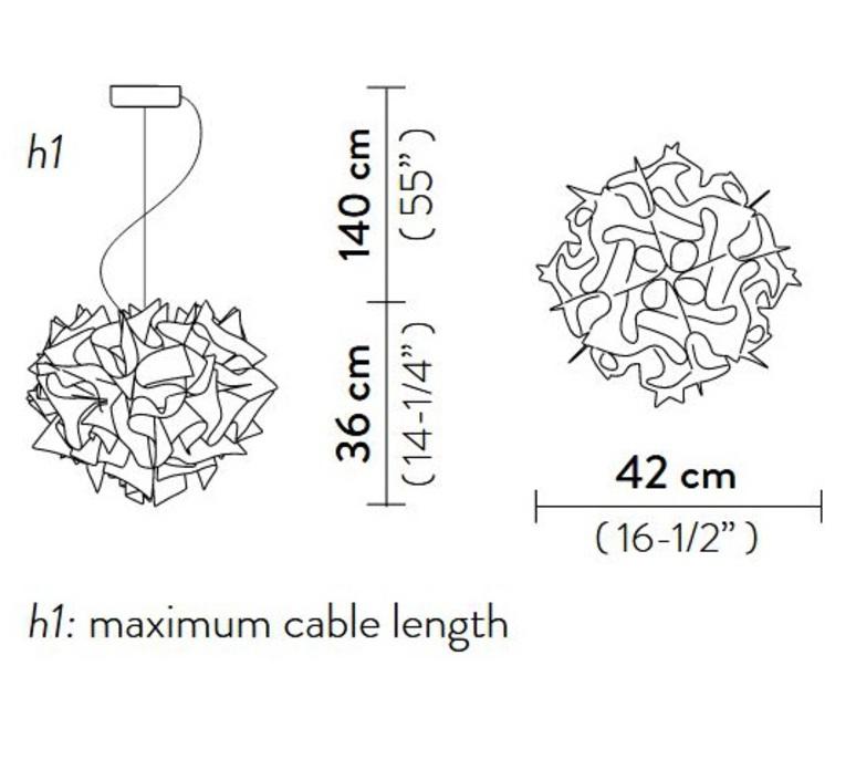 Veli couture m adriano rachele suspension pendant light  slamp vel78sos0001bw000  design signed nedgis 66204 product